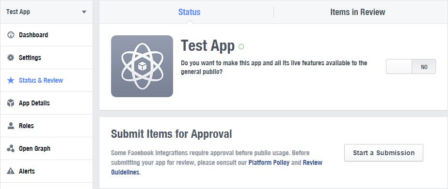 Создаем приложение в Фейсбук - включение приложения